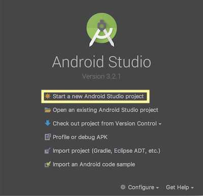 Android Studio create project01