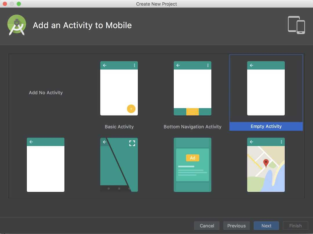 Android Studio create project04